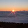 Inversionswetterlage am letzten Tag des Jahres 2016 - Blick Richtung Taunus vom Bilstein aus