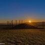 Die Sonne geht über dem Keltenberg in Glauburg auf...