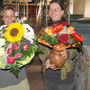Blumen für die Restauratorinnen