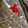 Guillaume en termine avec Glacenost, cascade de glace Haute-Maurienne