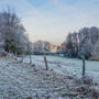 Frostiger Morgen in Pastell
