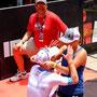 Große Emotionen nach dem Sieg beim Ironman Texas