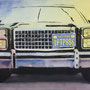 Cadillac '11, Öl auf Leinwand 90 x 160 cm