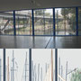 Gestaltung von 39 Fensterfolien für den Berliner U-Bahnhof MÖCKERNBRÜCKE im Auftrag der BVG, Ansicht 2