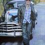 Bruce Springsteen '12, Öl auf Leinwand 120 x 90 cm