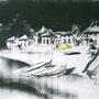 Gelber Sonnenschirm '04, Fotokopie auf Holzkasten 30 x 50 x 3 cm