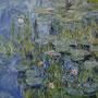Nympheas, 1918-21 Seerosen nach Claude Monet, Öl auf Leinwand 140 x 185 cm _für Barbara
