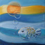 Fisch '04, Öl auf Leinwand 50 x 40 cm