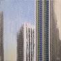 Two Ca. Plaza '09, Öl auf Leinwand 110 x 110 x 3 cm . . . verkauft