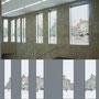 Gestaltung von 15 Fensterfolien für den Berliner U-Bahnhof BAYERISCHER PLATZ im Auftrag der BVG, Ansicht 2