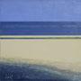 Sandbank '09, Öl auf Leinwand 90 x 90 cm