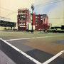 Civic Center Hotel '11, Öl auf Leinwand 60 x 50 cm ___ verkauft