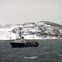 Früh zeigt sich die Überfahrt nach Kirkenes trüb und neblig.
