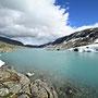 Schnee und Eis im Juli im Strynfjell