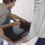 SILKSCREEN PROCESS PRINTING - DIRECTLY ON THE WALL
