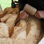 Le but est de sentir le dialogue entre la peau et le bois...