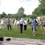 Soirée Via Energetica entre thérapeutes au parc de la Gloriette, à Tours, juin-2017