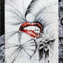 2021- taste it - mixed media with acrylic colors on PVC and collage frame - 45 x 55
