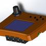 """Ventilansteuerung für triggie pro - Rechts ist die LED in der Aussparung sichtbar, die an den triggie pro """"angedockt"""" werden kann. Die Ventilansteuerung beim Tropfenstart das Startsignal an den triggie weiter"""