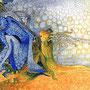 Götterdämmerung–Dämonendämmerung | Tusche, Ölkreide auf Papier