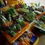 野菜も葉モノから徐々に夏野菜へと・・・。