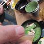 甘味処「おひさま」抹茶ぜんざい。苦味と甘みが絶妙~。