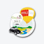 VW Käfer schwarz Ballon Pin Gönnheimer Weintage 2012 - 300 Stück