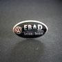 VW EBAD Strak-Team Pin Blech schwarz