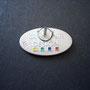 VW Cabrio Design Emaille Pin Rückseite