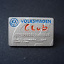 Volkswagen Club Card Pin - Sterling Silver Vorderseite