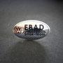 VW EBAD Strak-Team Pin Blech silbern