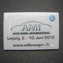 VW Pin Volkswagen AMI Leipzig 2012