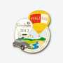 VW Käfer grau Ballon Pin Gönnheimer Weintage 2012 - 100 Stück