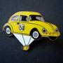 Volkswagen Ballon Käfer Pin gelb