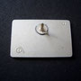 Volkswagen Club Card Pin - Sterling Silver Rückseite