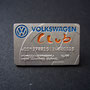 Volkswagen Club Card Pin - Manfred Burkel matt