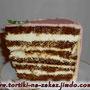 Медовая нежность Медовые коржи, сметано-заварной крем. Пропитанный торт, с нежным кремом