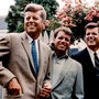 Les trois frères Kennedy (juillet 1960) : John Fitzgerald, Robert, Edward.