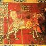 de mariage, Détail, chevalier allant à la guerre, Cathédrale de Vannes, XIIe