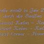 Inschrift der Erbauer vom Bildstöckli (Blattegga)