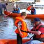 Kanutour - die Gruppen können kostenlos 7 Kanus und 1 Transportanhänger nutzen
