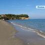 Am Strand - ca. 200m von Villa Nepheli entfernt
