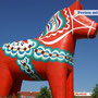 """Das Wahrzeichen der Provinz Dalarna, das """"Dalarnapferd"""""""