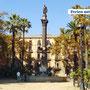 Eine typische Plaza in Barcelona