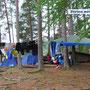 Campen an einer Lagerstelle