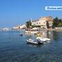 Die auf einem ins Meer ragenden Hügel erbaute Altstadt Rovinj