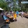 Mittagessen im Camp