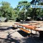 Zelte auf einem herrlichen Gelände