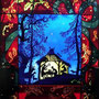 「クリスマス 馬小屋」(Panel) ステンドグラス作品