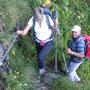 abwechslungsreicher Aufstieg via i de Schleife